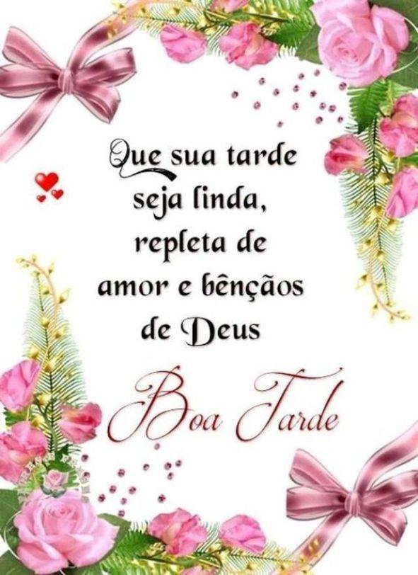 Que sua tarde seja linda, repleta de amor e bençãos de Deus. Boa Tarde!