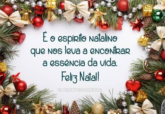 É o espirito Natalino que nos leva e  a  da vida.