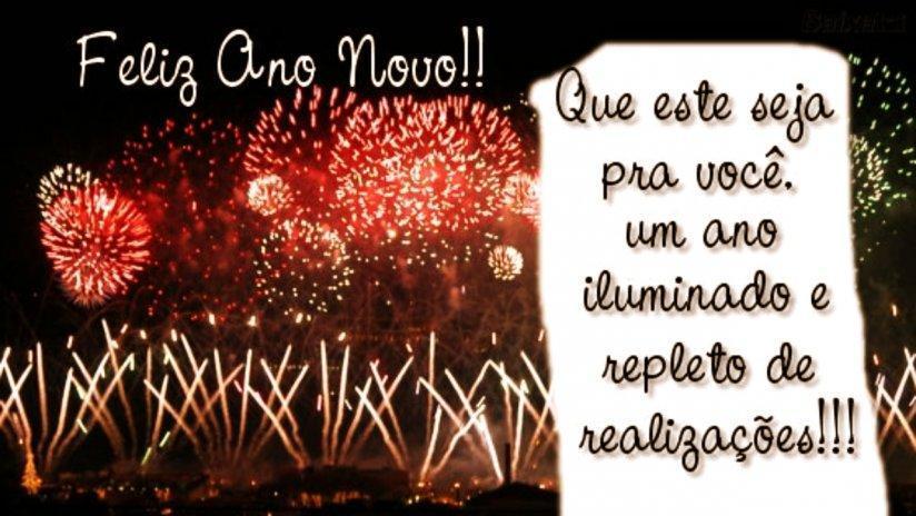 Feliz Ano Novo! Que este seja pra voce, um ano iluminado e repleto de realizações!