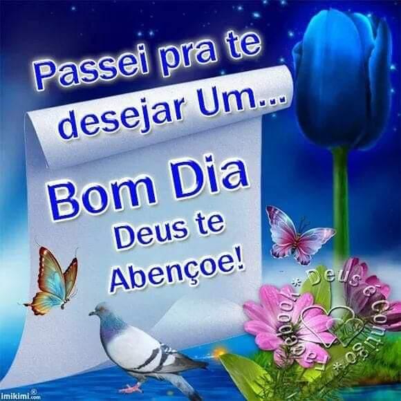 Passei pra te desejar um… Bom dia Deus  te abençoe!