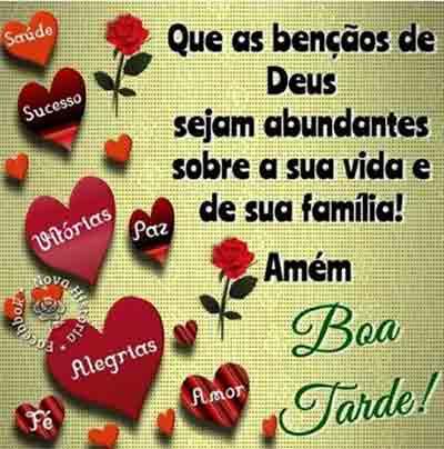 Que as bençãos de Deus sejam abundantes sobre a sua vida e de sua família!