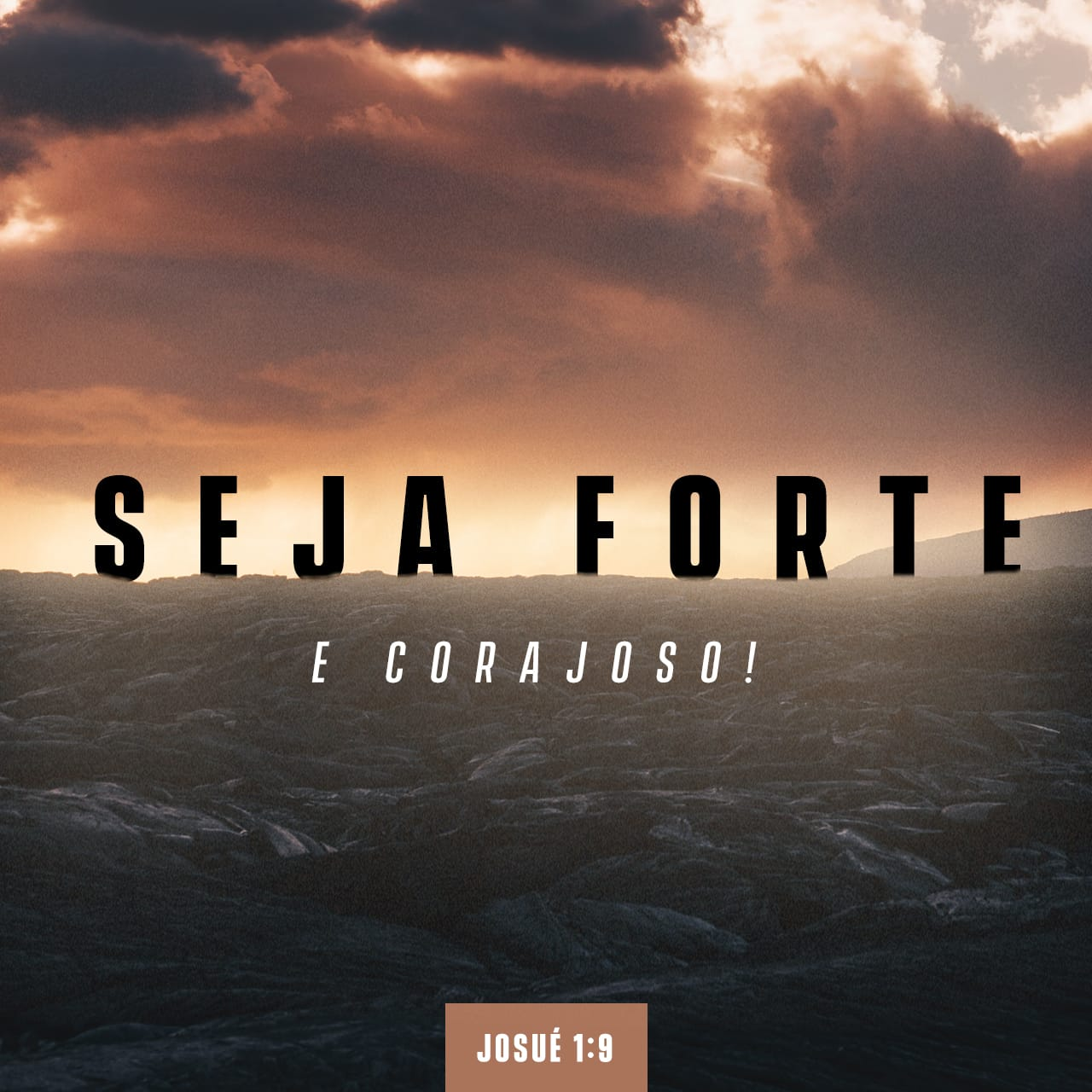 Seja Forte e corajoso! Josue 1 : 9