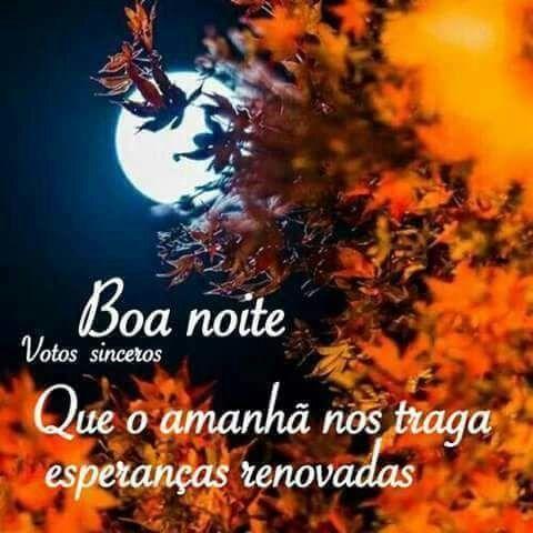 Boa Noite Que o amanhã nos traga esperanças renovadas!
